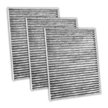 FilterHeads - AQ1016C Cabin Air Filter - Carbon Media, Absorbs Odors 3PK - Buy 2, Get 1 Free!