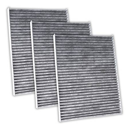 FilterHeads - AQ1049 Cabin Air Filter - Carbon Media, Absorbs Odors 3PK - Buy 2, Get 1 Free!