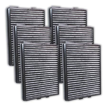 FilterHeads - AQ1055C Cabin Air Filter - Carbon Media, Absorbs Odors 3PK - Buy 2, Get 1 Free!