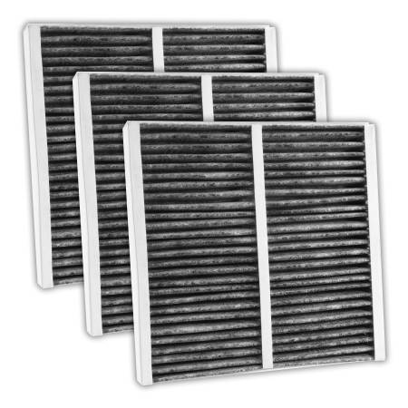 FilterHeads - AQ1075C Cabin Air Filter - Carbon Media, Absorbs Odors 3PK - Buy 2, Get 1 Free!