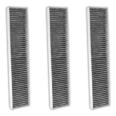FilterHeads - AQ1077C Cabin Air Filter - Carbon Media, Absorbs Odors 3PK - Buy 2, Get 1 Free!