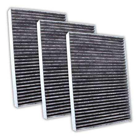 FilterHeads - AQ1082C Cabin Air Filter - Carbon Media, Absorbs Odors 3PK - Buy 2, Get 1 Free!