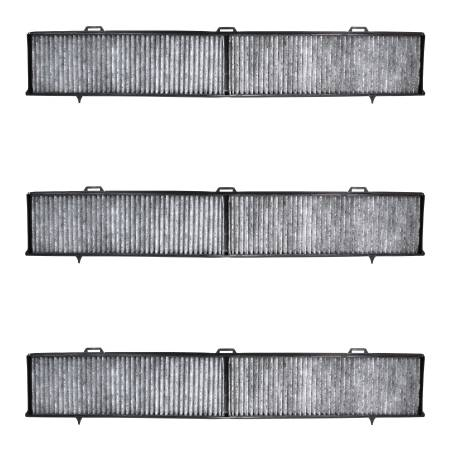 FilterHeads - AQ1115C Cabin Air Filter - Carbon Media, Absorbs Odors 3PK