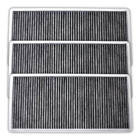 FilterHeads - AQ1123 Cabin Air Filter - Carbon Media, Absorbs Odors 3PK