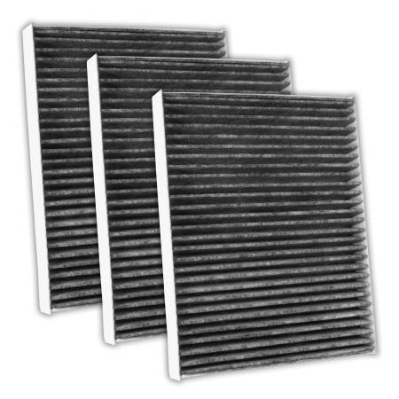 FilterHeads - AQ1136C Cabin Air Filter - Carbon Media, Absorbs Odors 3PK - Buy 2, Get 1 Free!