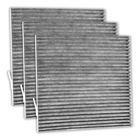 FilterHeads - AQ1140C Cabin Air Filter - Carbon Media, Absorbs Odors 3PK - Buy 2, Get 1 Free!