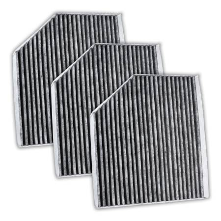 FilterHeads - AQ1157C Cabin Air Filter - Carbon Media, Absorbs Odors 3PK - Buy 2, Get 1 Free!