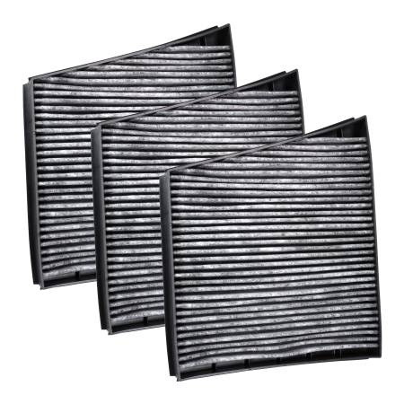 FilterHeads - AQ1178C Cabin Air Filter - Carbon Media, Absorbs Odors 3PK - Buy 2, Get 1 Free!