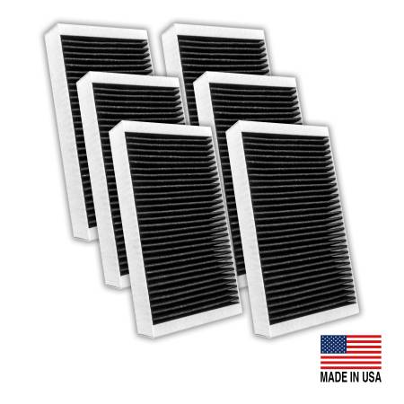 FilterHeads - AQ1180C Cabin Air Filter - Carbon Media, Absorbs Odors 3PK - Buy 2, Get 1 Free!