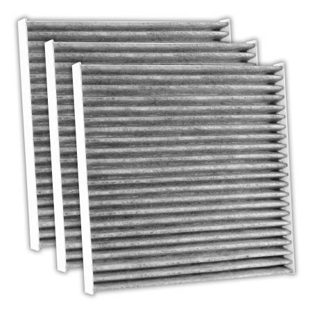 FilterHeads - AQ1192C Cabin Air Filter - Carbon Media, Absorbs Odors 3PK - Buy 2, Get 1 Free!