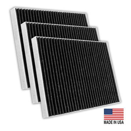 FilterHeads - AQ1205C Cabin Air Filter - Carbon Media, Absorbs Odors 3PK - Buy 2, Get 1 Free!