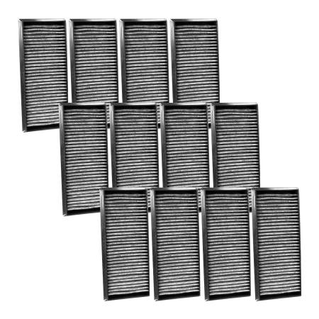 FilterHeads - AQ1218C Cabin Air Filter - Carbon Media, Absorbs Odors 3PK - Buy 2, Get 1 Free!