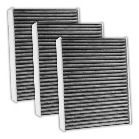 FilterHeads - AQ1238C Cabin Air Filter - Carbon Media, Absorbs Odors 3PK - Buy 2, Get 1 Free!