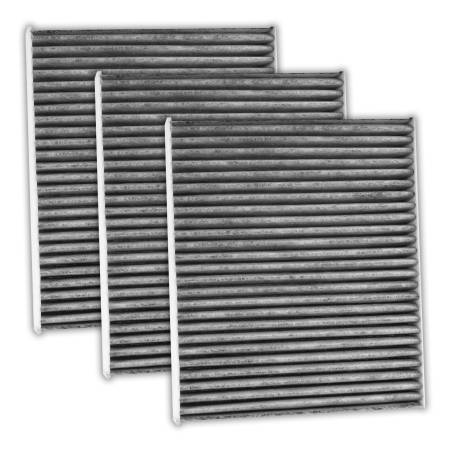 FilterHeads - AQ1247C Cabin Air Filter - Carbon Media, Absorbs Odors 3PK - Buy 2, Get 1 Free!