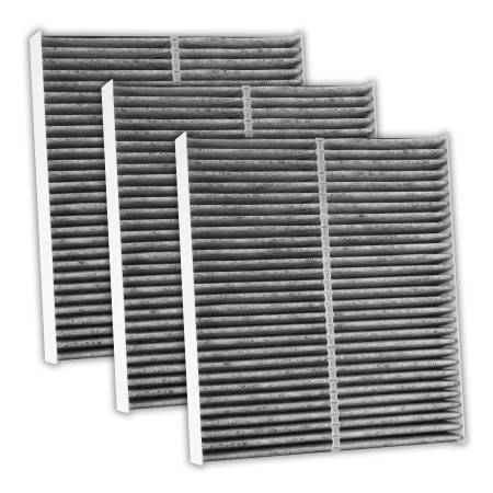 FilterHeads - AQ1216C Cabin Air Filter - Carbon Media, Absorbs Odors 3PK - Buy 2, Get 1 Free!