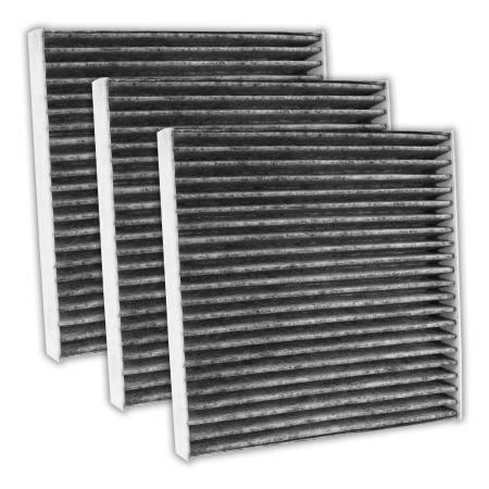 FilterHeads - AQ1235C Cabin Air Filter - Carbon Media, Absorbs Odors 3PK - Buy 2, Get 1 Free!