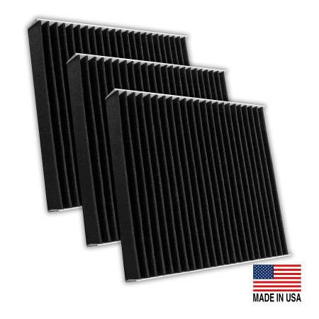 FilterHeads - AQ1248C Cabin Air Filter - Carbon Media, Absorbs Odors 3PK - Buy 2, Get 1 Free!