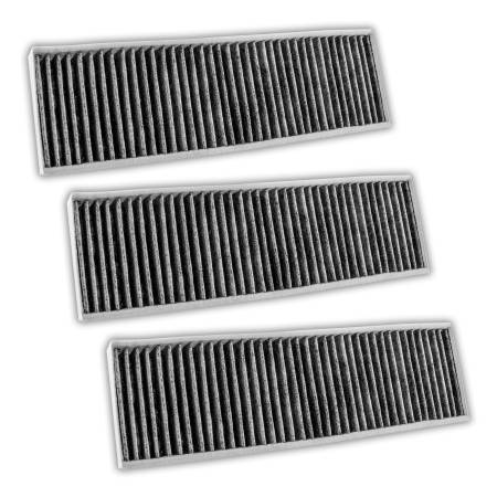 FilterHeads - AQ1270C Cabin Air Filter - Carbon Media, Absorbs Odors 3PK - Buy 2, Get 1 Free!