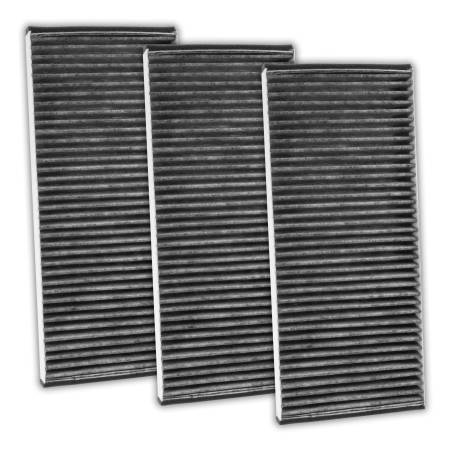 FilterHeads - AQ1173C Cabin Air Filter - Carbon Media, Absorbs Odors 3PK - Buy 2, Get 1 Free!