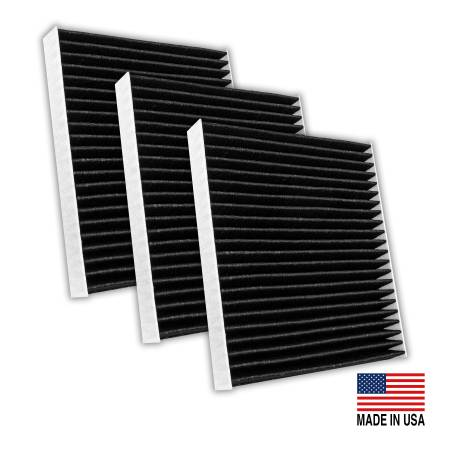 FilterHeads - AQ1262C-B Cabin Air Filter - Carbon Media, Absorbs Odors 3PK - Buy 2, Get 1 Free!