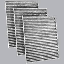 FilterHeads - AQ1016C Cabin Air Filter - Carbon Media, Absorbs Odors 3PK - Buy 2, Get 1 Free!