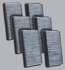 FilterHeads - AQ1041C Cabin Air Filter - Carbon Media, Absorbs Odors 3PK - Buy 2, Get 1 Free!