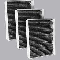 FilterHeads - AQ1043C Cabin Air Filter - Carbon Media, Absorbs Odors 3PK - Buy 2, Get 1 Free!