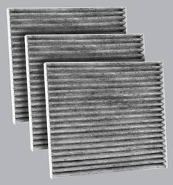 FilterHeads - AQ1044C Cabin Air Filter - Carbon Media, Absorbs Odors 3PK - Buy 2, Get 1 Free!