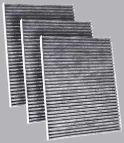 FilterHeads - AQ1049 Cabin Air Filter - Carbon Media, Absorbs Odors 3PK - Buy 2, Get 1 Free!