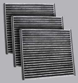 FilterHeads - AQ1050 Cabin Air Filter - Carbon Media, Absorbs Odors 3PK - Buy 2, Get 1 Free!