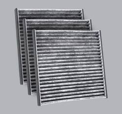 FilterHeads - AQ1064 Cabin Air Filter - Carbon Media, Absorbs Odors 3PK - Buy 2, Get 1 Free!