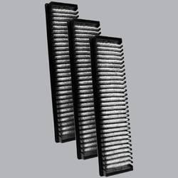 FilterHeads - AQ1068 Cabin Air Filter - Carbon Media, Absorbs Odors 3PK - Buy 2, Get 1 Free!