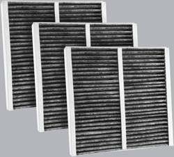 FilterHeads - AQ1075C Cabin Air Filter - Carbon Media, Absorbs Odors 3PK - Buy 2, Get 1 Free!