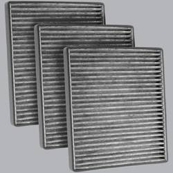 FilterHeads - AQ1084C Cabin Air Filter - Carbon Media, Absorbs Odors 3PK - Buy 2, Get 1 Free!