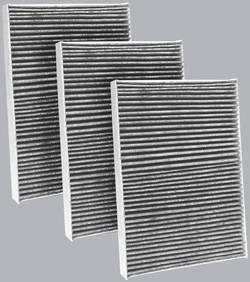 FilterHeads - AQ1096C Cabin Air Filter - Carbon Media, Absorbs Odors 3PK - Buy 2, Get 1 Free!