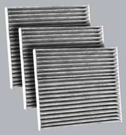 FilterHeads - AQ1102C Cabin Air Filter - Carbon Media, Absorbs Odors 3PK - Buy 2, Get 1 Free!