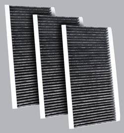 FilterHeads - AQ1141C Cabin Air Filter - Carbon Media, Absorbs Odors 3PK - Buy 2, Get 1 Free!
