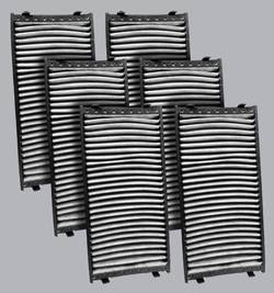 FilterHeads - AQ1147C Cabin Air Filter - Carbon Media, Absorbs Odors 3PK - Buy 2, Get 1 Free!