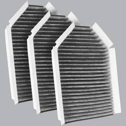 FilterHeads - AQ1160C Cabin Air Filter - Carbon Media, Absorbs Odors 3PK - Buy 2, Get 1 Free!