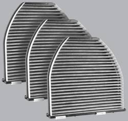 FilterHeads - AQ1161C Cabin Air Filter - Carbon Media, Absorbs Odors 3PK - Buy 2, Get 1 Free!