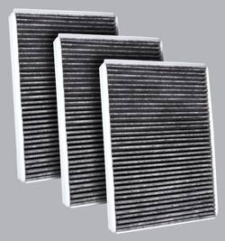 FilterHeads - AQ1176C Cabin Air Filter - Carbon Media, Absorbs Odors 3PK - Buy 2, Get 1 Free!