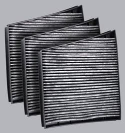 FilterHeads - AQ1178C Cabin Air Filter - Carbon Media, Absorbs Odors 3PK - Buy 2, Get 1 Free!