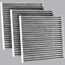 FilterHeads - AQ1192C Cabin Air Filter - Carbon Media, Absorbs Odors 3PK - Buy 2, Get 1 Free!