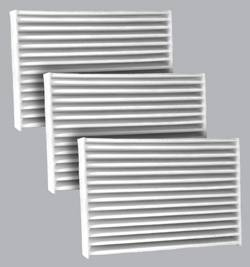 FilterHeads - AQ1200 Battery Compartment Cabin Air Filter - Particulate Media 3PK - Buy 2, Get 1 Free!