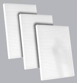 FilterHeads - AQ1207 Cabin Air Filter - Particulate Media 3PK - Buy 2, Get 1 Free!