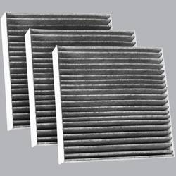 FilterHeads - AQ1215C Cabin Air Filter - Carbon Media, Absorbs Odors 3PK - Buy 2, Get 1 Free!
