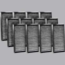 FilterHeads - AQ1218C Cabin Air Filter - Carbon Media, Absorbs Odors 3PK - Buy 2, Get 1 Free!