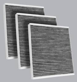 FilterHeads - AQ1223C Cabin Air Filter - Carbon Media, Absorbs Odors 3PK - Buy 2, Get 1 Free!
