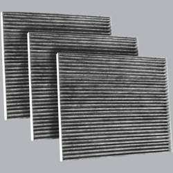 FilterHeads - AQ1228C Cabin Air Filter - Carbon Media, Absorbs Odors 3PK - Buy 2, Get 1 Free!