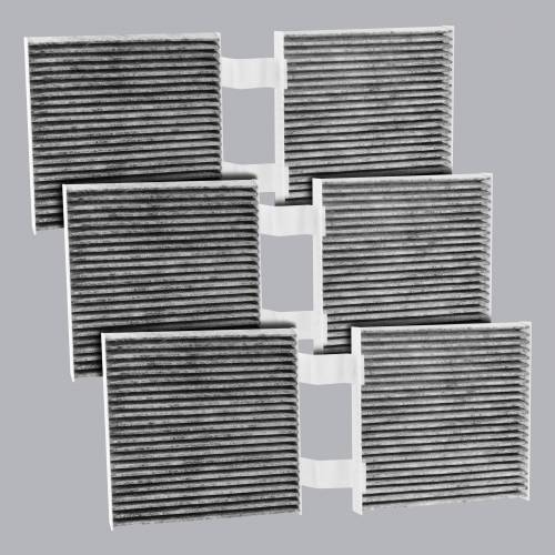 FilterHeads - AQ1234C Cabin Air Filter - Carbon Media, Absorbs Odors 3PK - Buy 2, Get 1 Free!